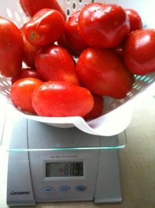 Les tomates, avant qu'elles ne soient dégorgées