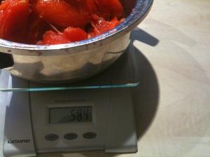 Les tomates dégorgées